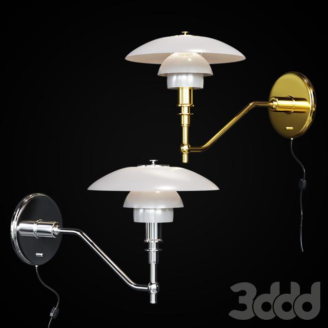 Бра Louis Poulsen PH3/2 Chrome and Gold