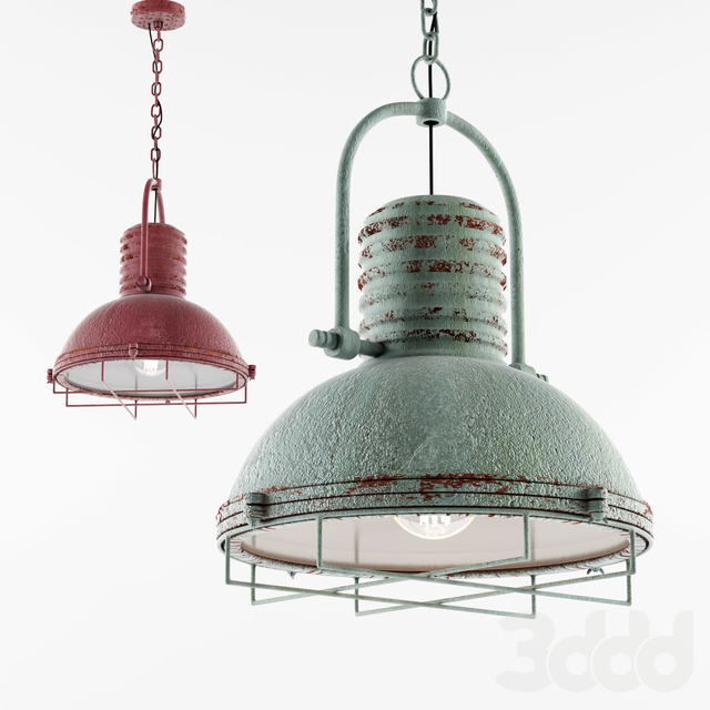 Kalalou Antique Pendant Light With Glass And Wire Cage