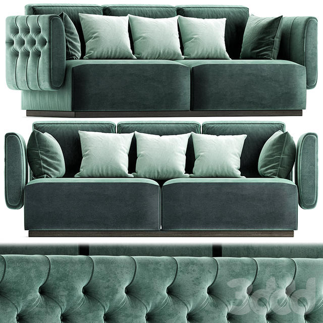 Tufted leather sofa SIMON By OPERA CONTEMPORARY
