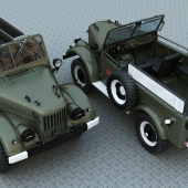 ГАЗ-68-69 армейский, парад