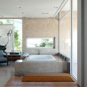 Ванная комната (дневной свет menta ray)