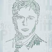 Typographic portrait of Brad Pitt.