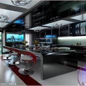 Кухня в частном доме на рублёвке.