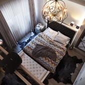 Спальня в загородном доме.