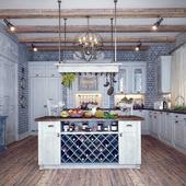 Кухня в деревенском стиле. Вариант 1