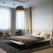 Спальня в 4-х комнатной квартире.