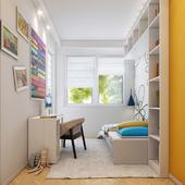 Kids room interior