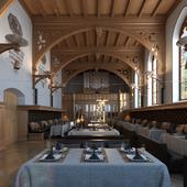Ресторан в старой церкви.