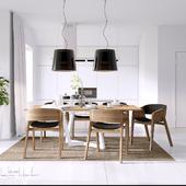 кухня и столовая зона