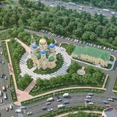 Визуализация Храма в строящемся районе