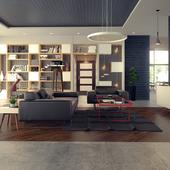 """Orange rays"" Livingroom project"