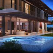 Визуализация дома на побережье