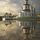 Церковь у озера.