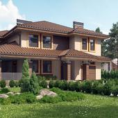 Жилой дом в стиле Райта