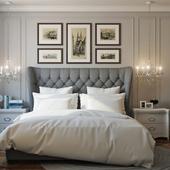 Спальная комната в оттенках серого