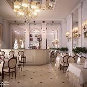 Интерьер ресторана в гостинице