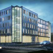 Визуализация проекта офисного здания ( ULMUS Group )