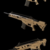 Low-poly rifle