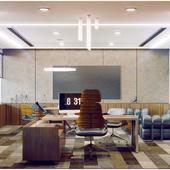 Конкурсный проект. Интерьер кабинета руководителя мебельного холдинга.