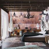 Дизайн и визуализация комнаты в загородном доме