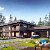 Благоустройство и ландшафтный дизайн на визуализациях частных домов