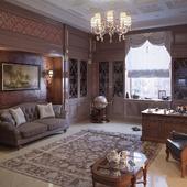 Классические интерьеры в частном особняке