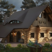 Деревянный дом.