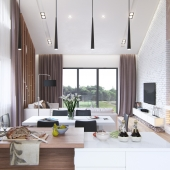 Modern interior of country house