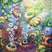 Sea bubbles , холст , аэрограф