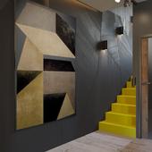 Лестница + кухня