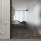 Ванная комната совмещенная со спальней