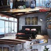 Bedroom (not commercial)