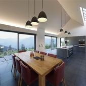 Интерьер современного дома в горах