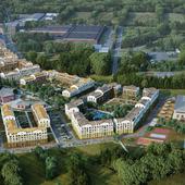 Жилой квартал в ленинградской области