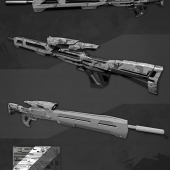 Low-poly sniper rifle