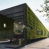 Визуализация существующего проекта CR Land Guanganmen Green Technology Showroom