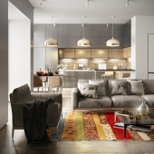 Project living room + kitchen