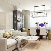 Гостиная и спальня  Purple
