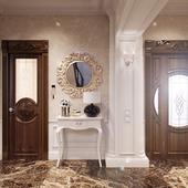 Визуализация коридора  в английском стиле