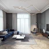 TOL'KO INTERIORS / Luxurious apartment at Krestovskiy island