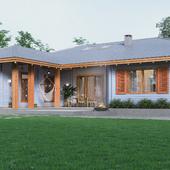 Деревянный дом по технологии двойной брус в д. Атолино. Беларусь