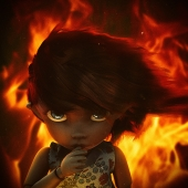 pukifee in the flames
