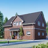 Деревянный жилой дом №001