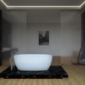 Ванная комната для конкурса от Salini S.r.l., модель ванны LUCE