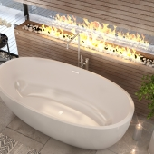 Интерьер ванной комнаты SaliniS.r.l. Модель ванны -  LUCE