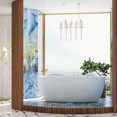 "Конкурс ""Ванная комната"" от SaliniS.r.l., модель ""Luce"", матовая."