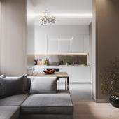 Studio apartment of 35 sq.m.