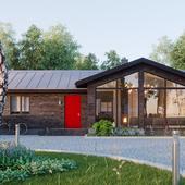 Визуализация загородного дома в Подмосковье