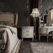 Classic interior. Bedroom