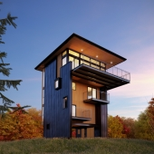 tower house in Michigan